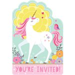 Magical Unicorn Postcard Invitations