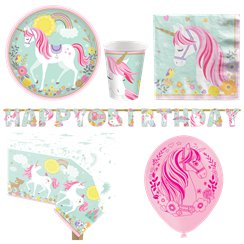 Magical Unicorn Party Pack - Deluxe Pack for 8