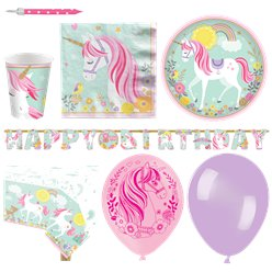 Magical Unicorn Party Pack - Deluxe Pack for 16