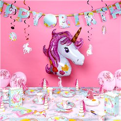 Magical Unicorn Deluxe Party Kit - For 8