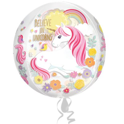 Magical Unicorn Orbz Balloon - 16""