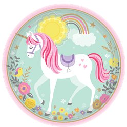 Magical Unicorn Paper Plates - 23cm