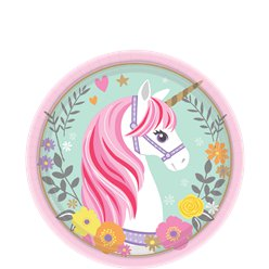 Magical Unicorn Dessert Paper Plates - 18cm