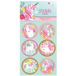Magical Unicorn Party Stickers