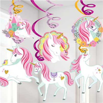 Magical Unicorn Hanging Swirls