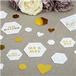 Scripted Marble Wedding Table/Scatter Confetti