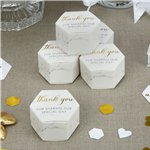 Scripted Marble Wedding Favour Boxes