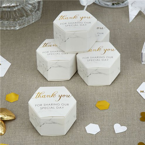 Wedding Favor Boxes.Scripted Marble Wedding Favour Boxes