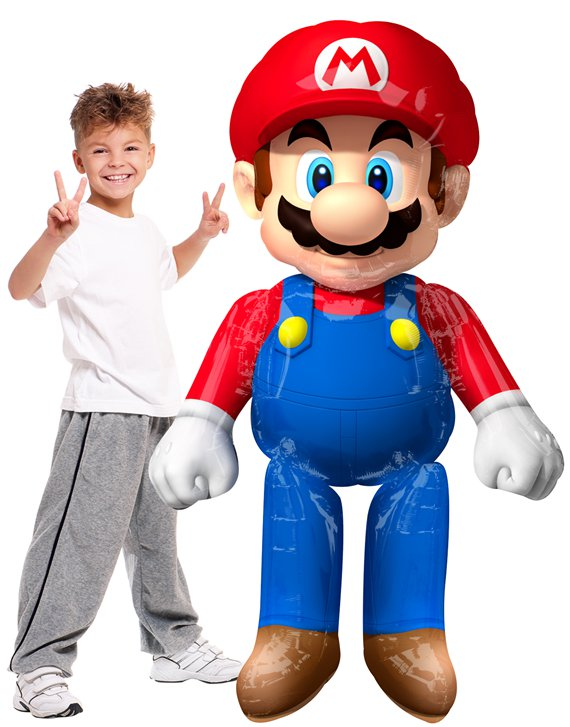"Super Mario Airwalker Balloon - 60"" Foil"