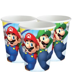 Super Mario Paper Cups - 266ml