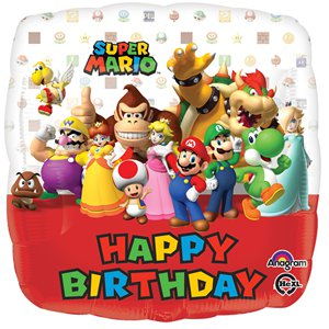 Super Mario 'Happy Birthday' Balloon - 18