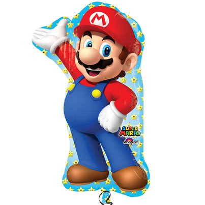 "Super Mario Supershape Balloon - 33"" Foil"