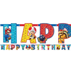 Super Mario Jumbo Add An Age Letter Banner - 3.2m