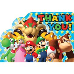 Super Mario Thank You Cards