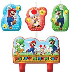 Super Mario Birthday Candles