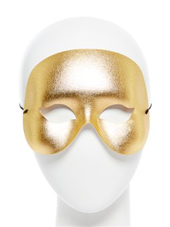 Gold Cocktail Domino Masquerade Mask