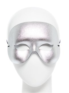Silver Cocktail Domino Masquerade Mask