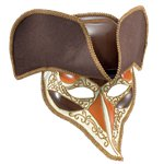 Highwayman Venetian Mask & Hat - Men's Masquerade Masks
