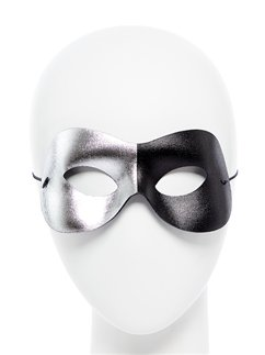 Black & Silver Domino Masquerade Mask
