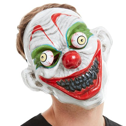 Clown Mask with Moving Eyes - Halloween Mask front