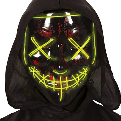 LED Stitched Smile Mask - The Purge Mask - Adult Halloween Mask front