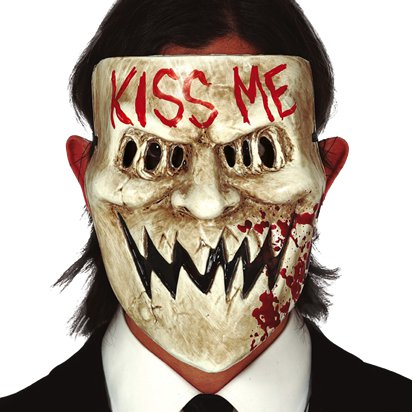 Kiss Me Mask - The Purge Mask - Adult Halloween Mask front
