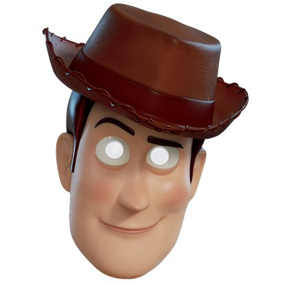 Woody Toy Story 4 Mask - Child Character Mask front