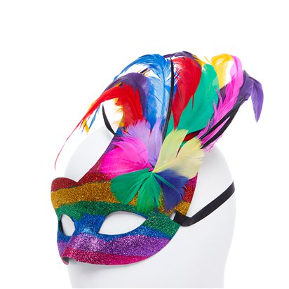 Rainbow Pride Masquerade Mask - Pride Festival - Adult Fancy Dress Accessory  back