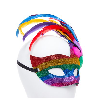 Rainbow Pride Masquerade Mask - Pride Festival - Adult Fancy Dress Accessory  left