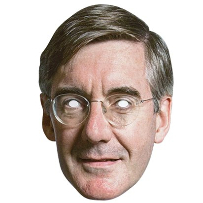 Jacob Rees-Mogg Mask front