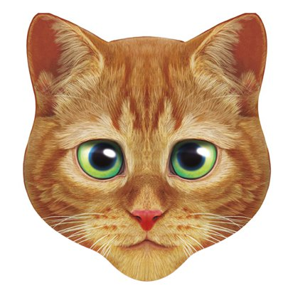 Giant Ginger Cat Mask - Fancy Dress Accessory front
