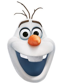 Disney Frozen 2 Olaf Mask