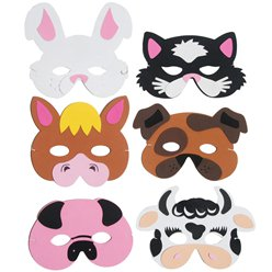 Farm Animal Eva Mask - Assorted