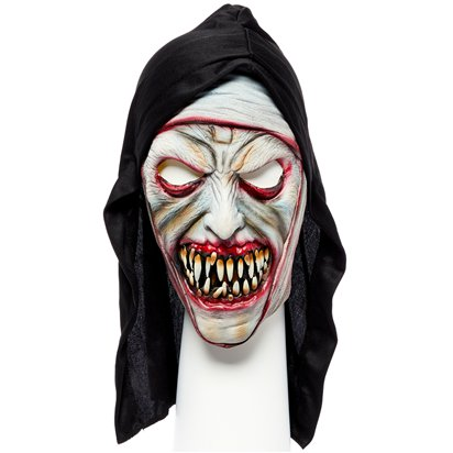 Zombie Nun Mask - The Nun Halloween Fancy Dress Accessories front
