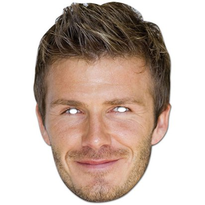 David Beckham Mask - Celebrity Face Masks front