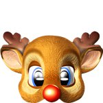 Rudolph Mask