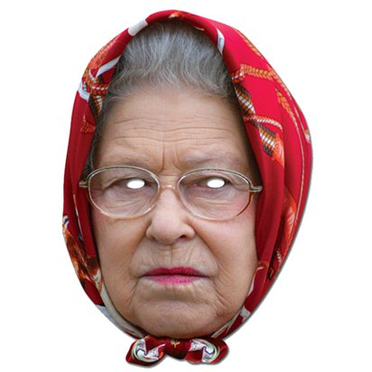 The Queen Headscarf Mask - Celebrity Face Masks front