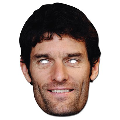 Mark Webber Mask - Celebrity Face Mask front