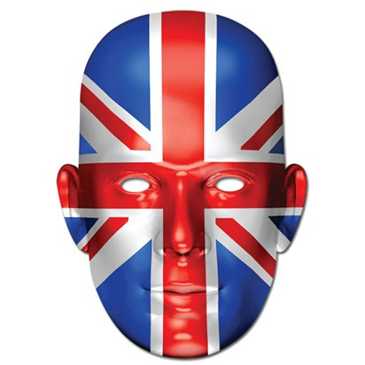 Union Jack Mask - Royal Wedding Street Party  front