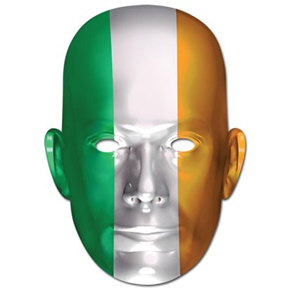 Irish Flag Mask - St Patrick's Day Accessories - Adult One Size front