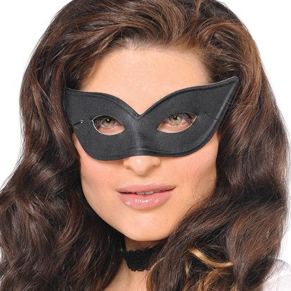 Vogue Black  Masquerade Mask for Women - Venetian Mask left