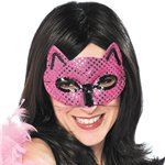 Pink Cat Masquerade Mask