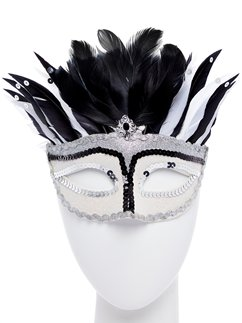 Mystical Masquerade Mask with Feathers