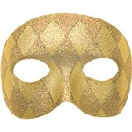 Gold Harlequin Domino Mask