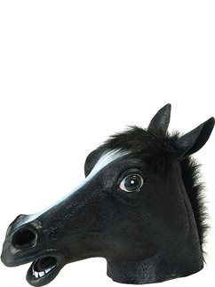 Black Beauty Horse Rubber Mask