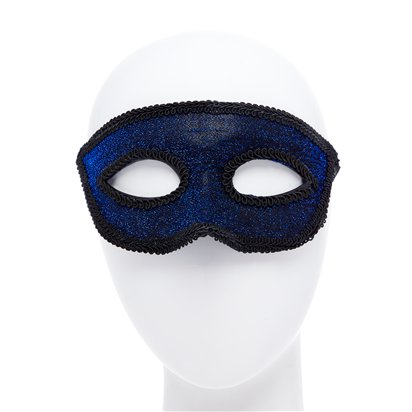 Blue Masquerade Mask for Men - Venetian Mask front