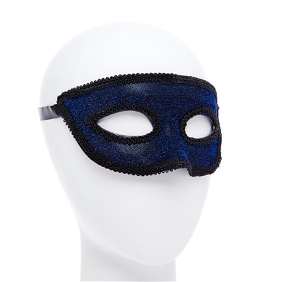 Blue Masquerade Mask for Men - Venetian Mask left