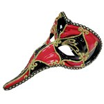 Black & Red Loki Masquerade Mask