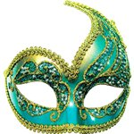 Blue & Gold Decorative Masquerade Mask