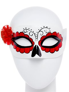 Day of the Dead White Masquerade Mask